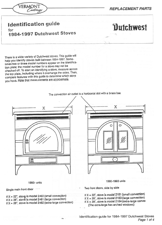 ... Federal Airtight Stoves Diagram - Federal Airtight Wood Stove